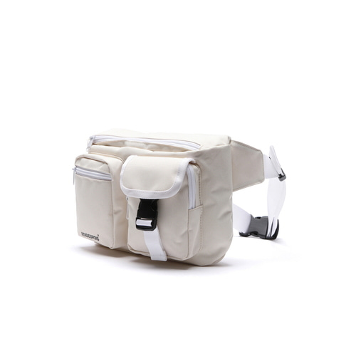 ALPHA BUCKLE WAIST BAG (IVORY)