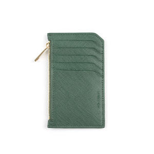 SLIM LEATHER CARD WALLET (GREEN)