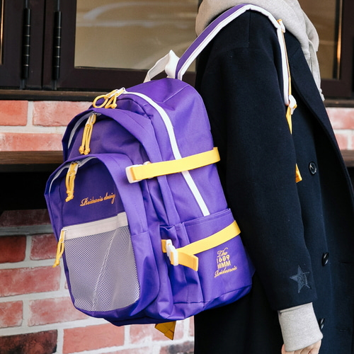 OH OOPS BACKPACK (PURPLE/YELLOW)