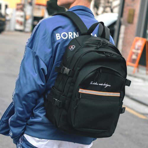 OH OOPS BACKPACK (BLACK/ORANGE)