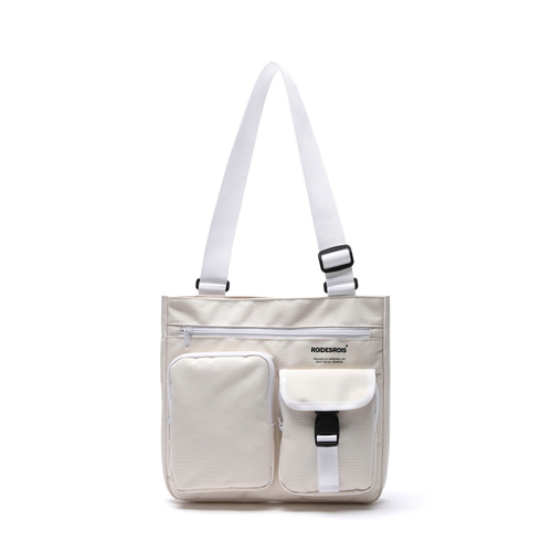 ALPHA BUCKLE CROSS BAG (IVORY)