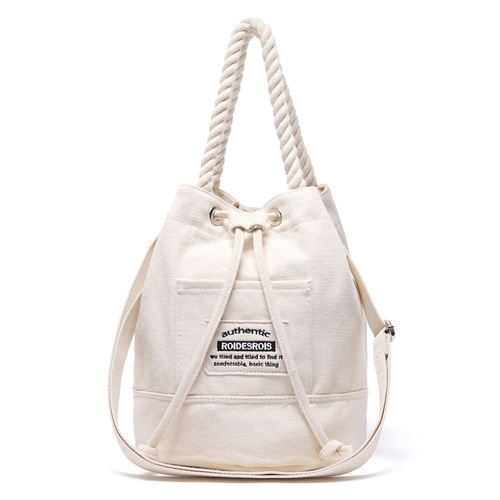 ROPE COTTON BUCKET CROSS BAG (IVORY)