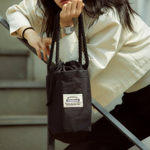 ROPE COTTON SHOULDER BAG (BLACK)