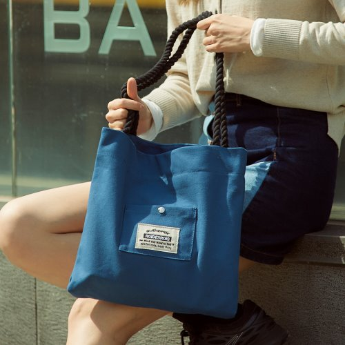 ROPE COTTON ECO BAG (BLUE)